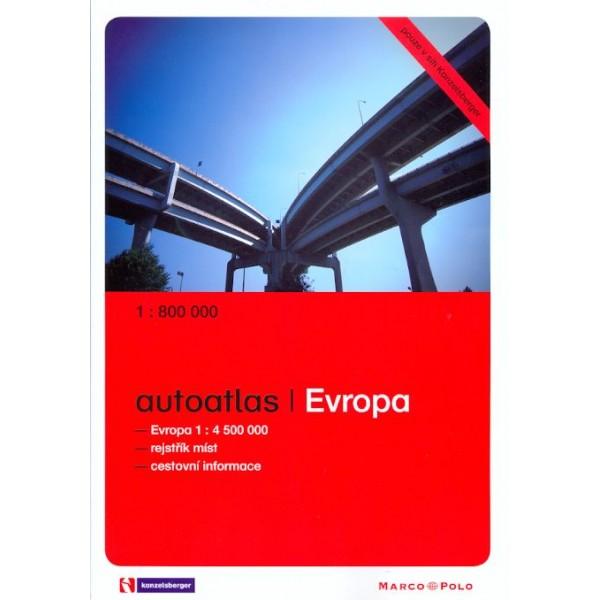 Autoatlas Evropa 1: 800 000