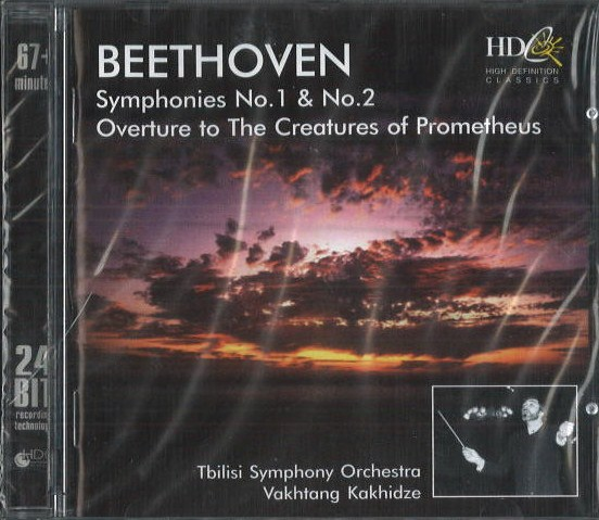 Beethoven - symphonies no. 1 a no. 2 - CD