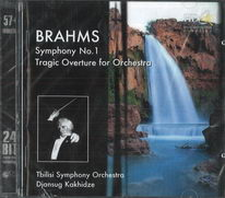 Brahms - Symphony no. 1, Tragic Overture for orchestra - CD