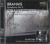 Brahms - Symphony no. 3 / Strauss - Death and Transfiguration - CD