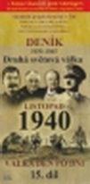 Deník 1939 - 1945 - Druhá světová válka (15. díl) - listopad 1940 - DVD