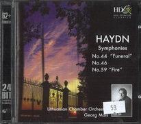 Haydn - Symphonies no. 44 / no. 46 / no. 59 - CD