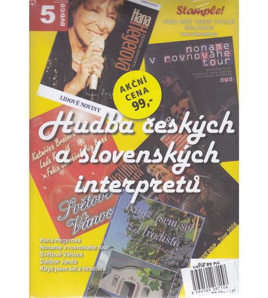 Kolekce Hudba českých a slovenských interpretů - DVD