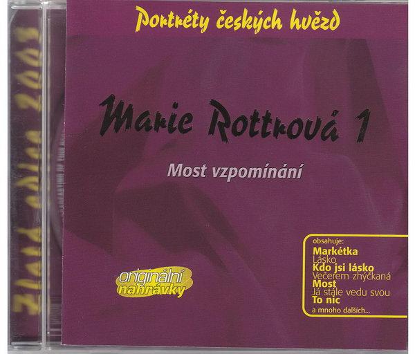 Marie Rottrová 1 - Most vzpomínání - Zlatá edice 2013 - CD