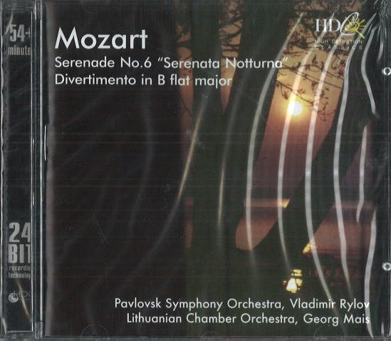 Mozart - Serenade no. 6 / Divertimento in B flat major - CD