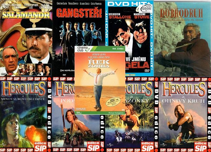 Kolekce Anthony Quinn 9 DVD