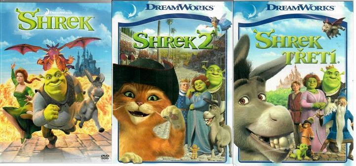 Kolekce Shrek - 3 DVD ( nekompletní )