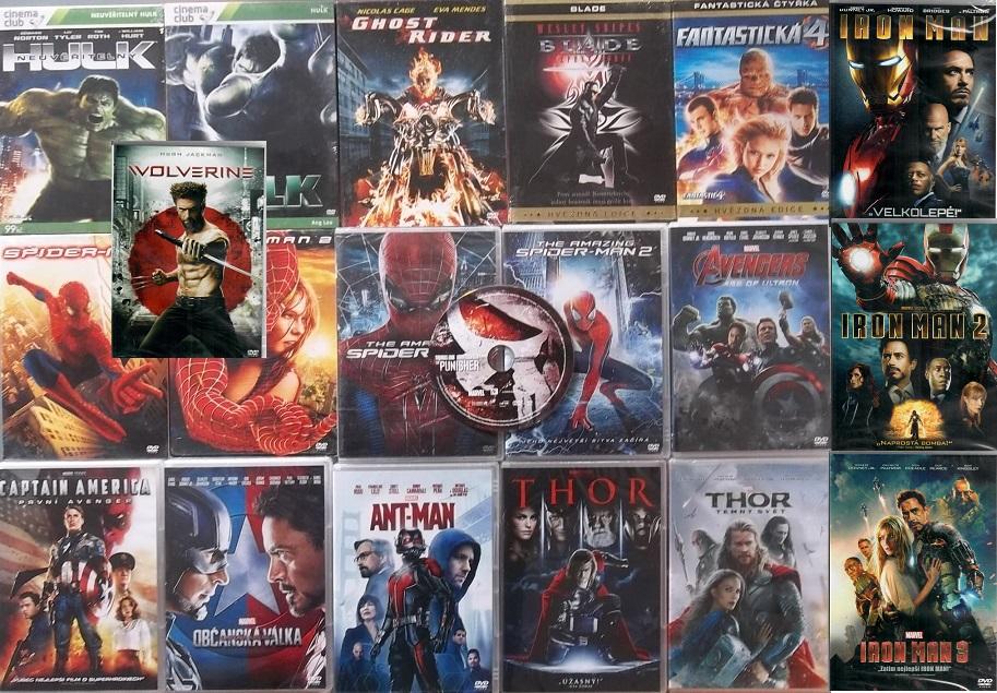 Kolekce filmů Marvel - 20 DVD