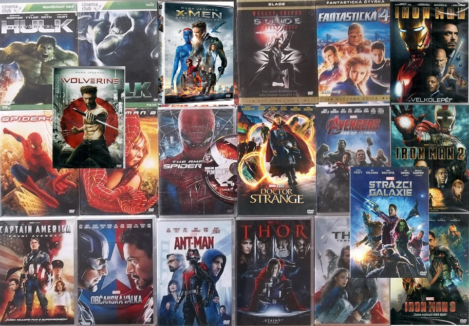 Kolekce filmů Marvel - 21 DVD