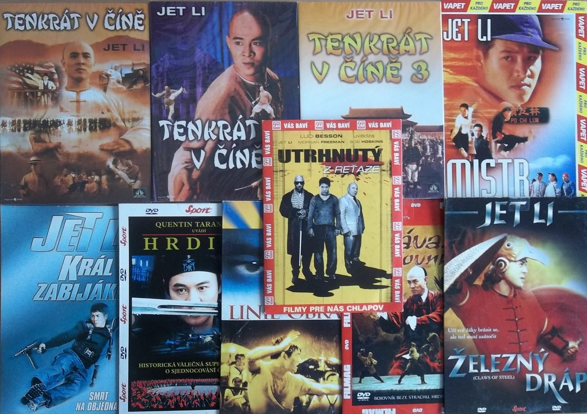 Kolekce Jet Li - 10 DVD