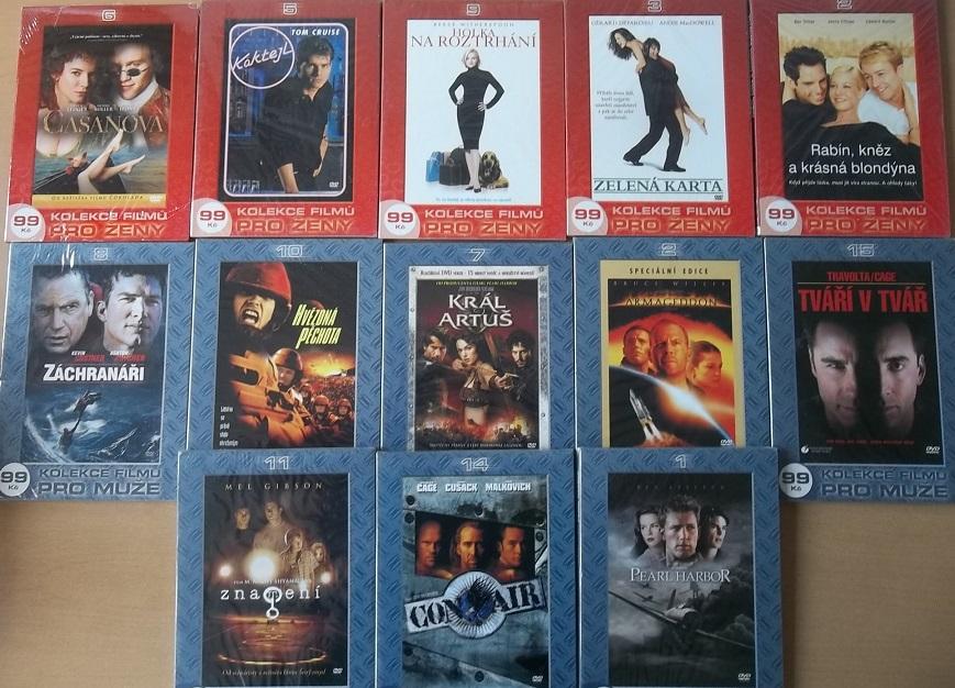 Kolekce filmů pro muže i ženy - 13 DVD