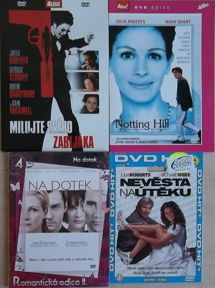 Kolekce Julia Roberts - 4 DVD