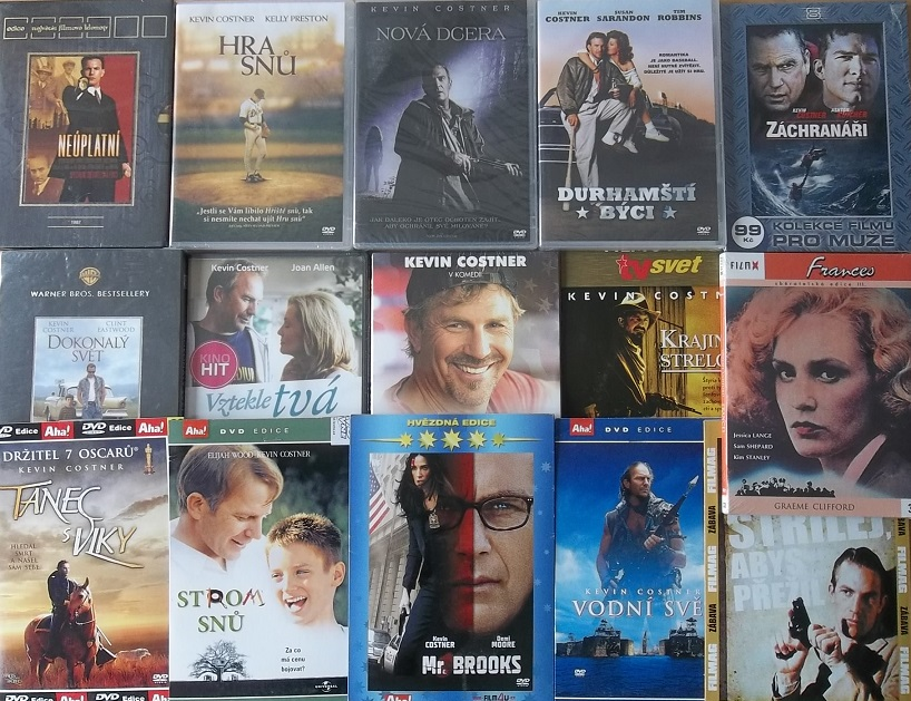 Kolekce Kevin Costner - 15 DVD