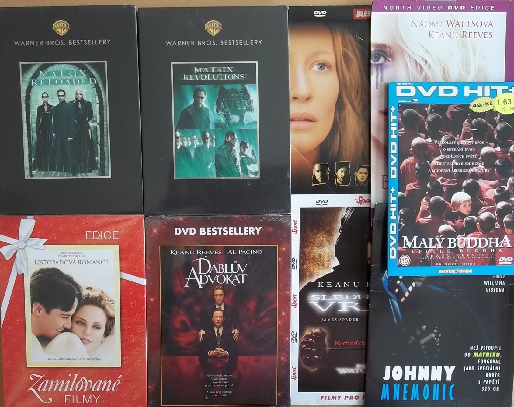 Kolekce Keanu Reevs - 9 DVD