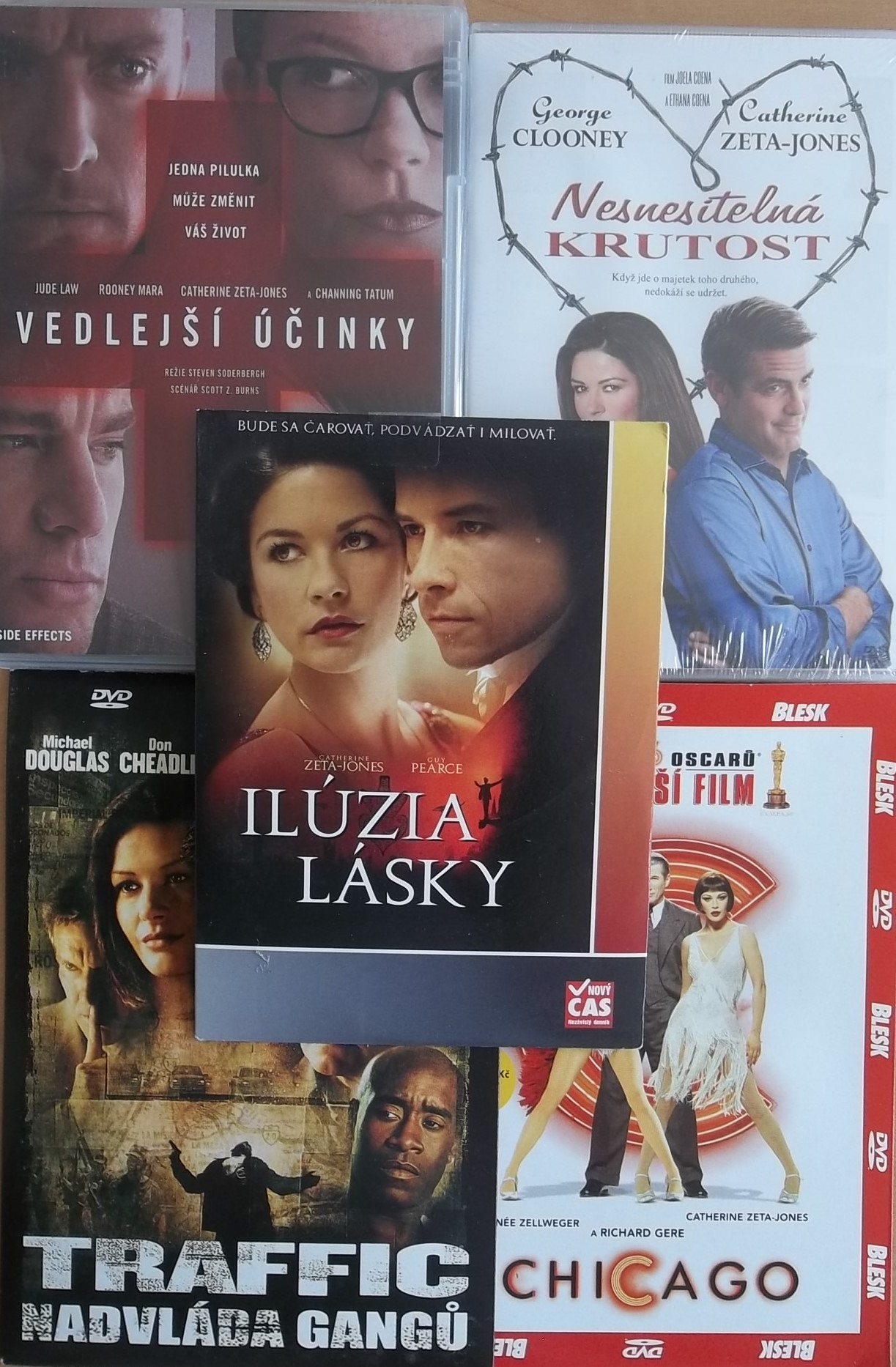 Kolekce Catherine Zeta-Jones - 5 DVD