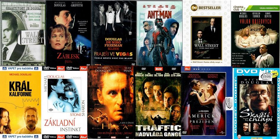 Velká kolekce Michael Douglas - 12 DVD