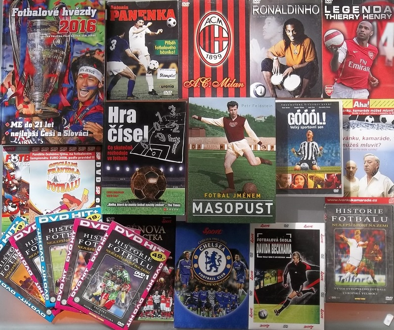 Kolekce Fotbalová -3x Kniha +16x DVD + 1x CD