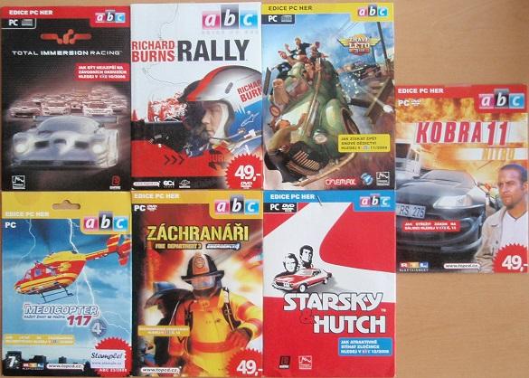 Kolekce PC hra automobilová - 7 DVD