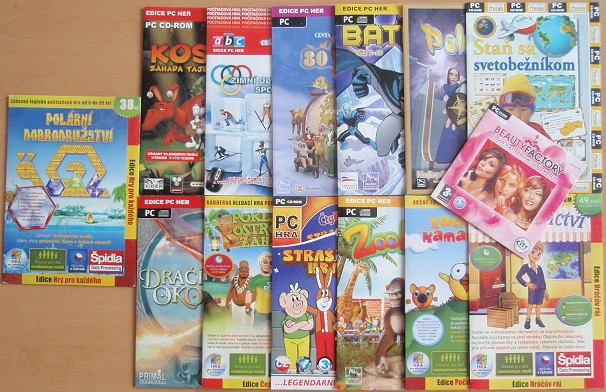 Kolekce PC hra dětská - 14 DVD