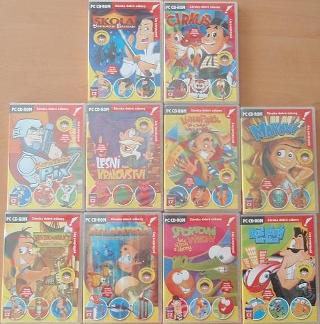 Kolekce PC her - Dětské hry - 10 CD
