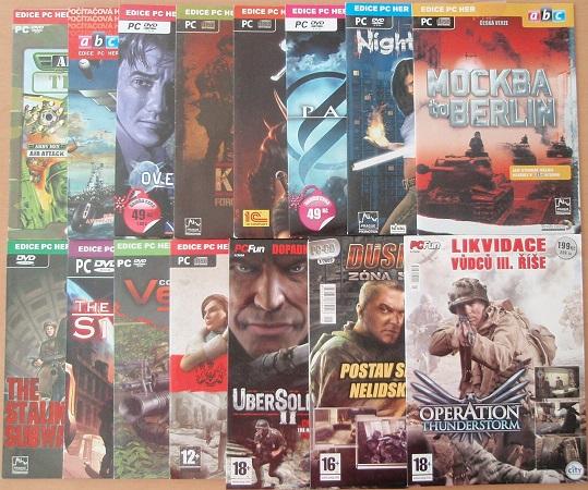 Kolekce PC her - Střílečky - 15 CD