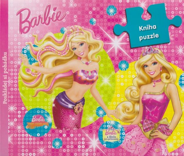 Barbie - Poskládej si pohádku,kniha puzzle