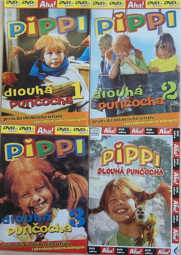 Kolekce Pippi dlouhá punčocha 4 DVD