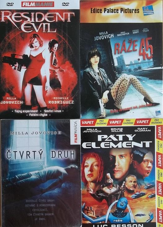 Kolekce Mila Jovovich 4DVD