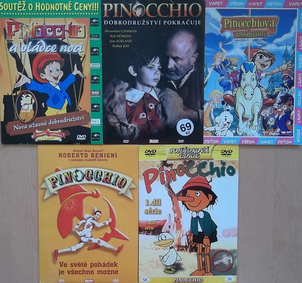 Kolekce Pinocchio 5x jinak 5DVD