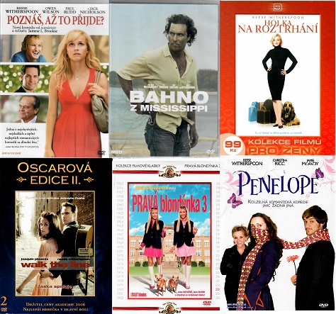 Kolekce Reese Vitherspoon 6x DVD