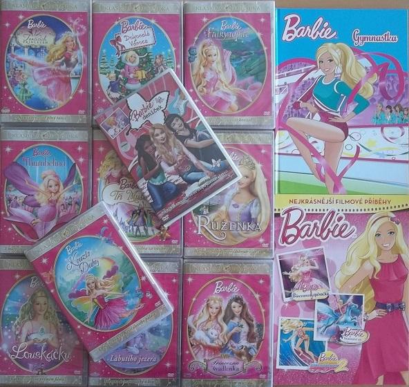 Kolekce Barbie 11DVD + 2knihy