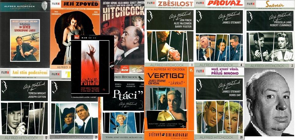 Kolekce Alfred Hitchcock 12x DVD