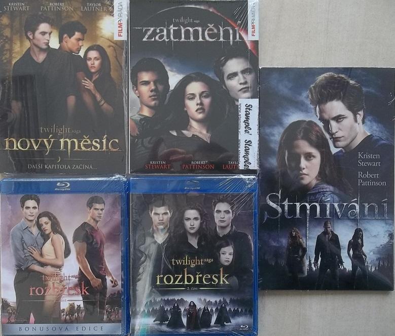 Kolekce: Twilight / Stmívání (2xBlu-ray + 3x DVD)