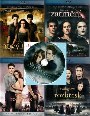 Kolekce: Twilight / Stmívání ( 4x Blu-ray  + 1x DVD )