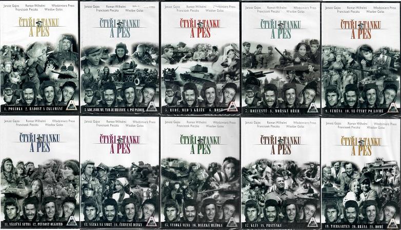 Kolekce Čtyři z tanku a pes - 10x DVD plast KOMPLET díly 1-21