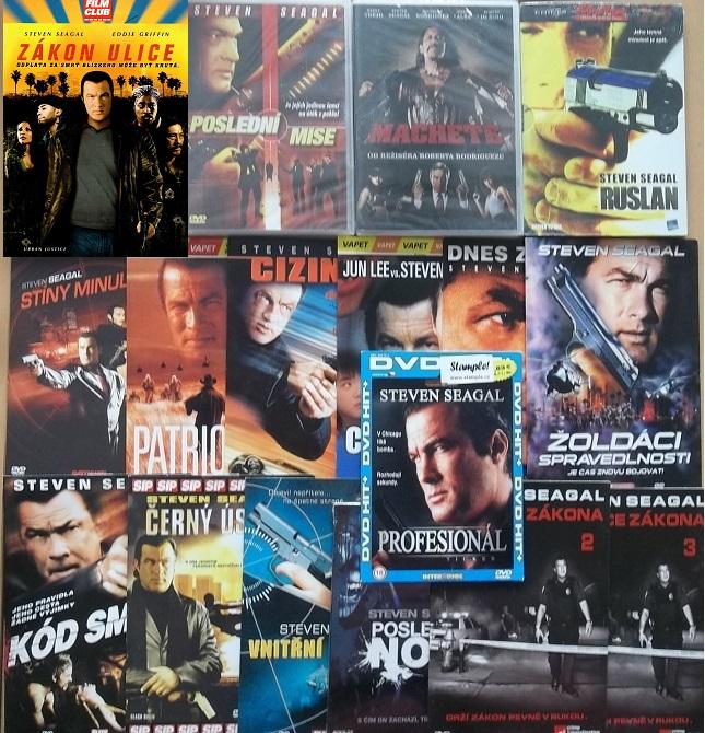 Velká kolekce Steven Seagal - 19 DVD