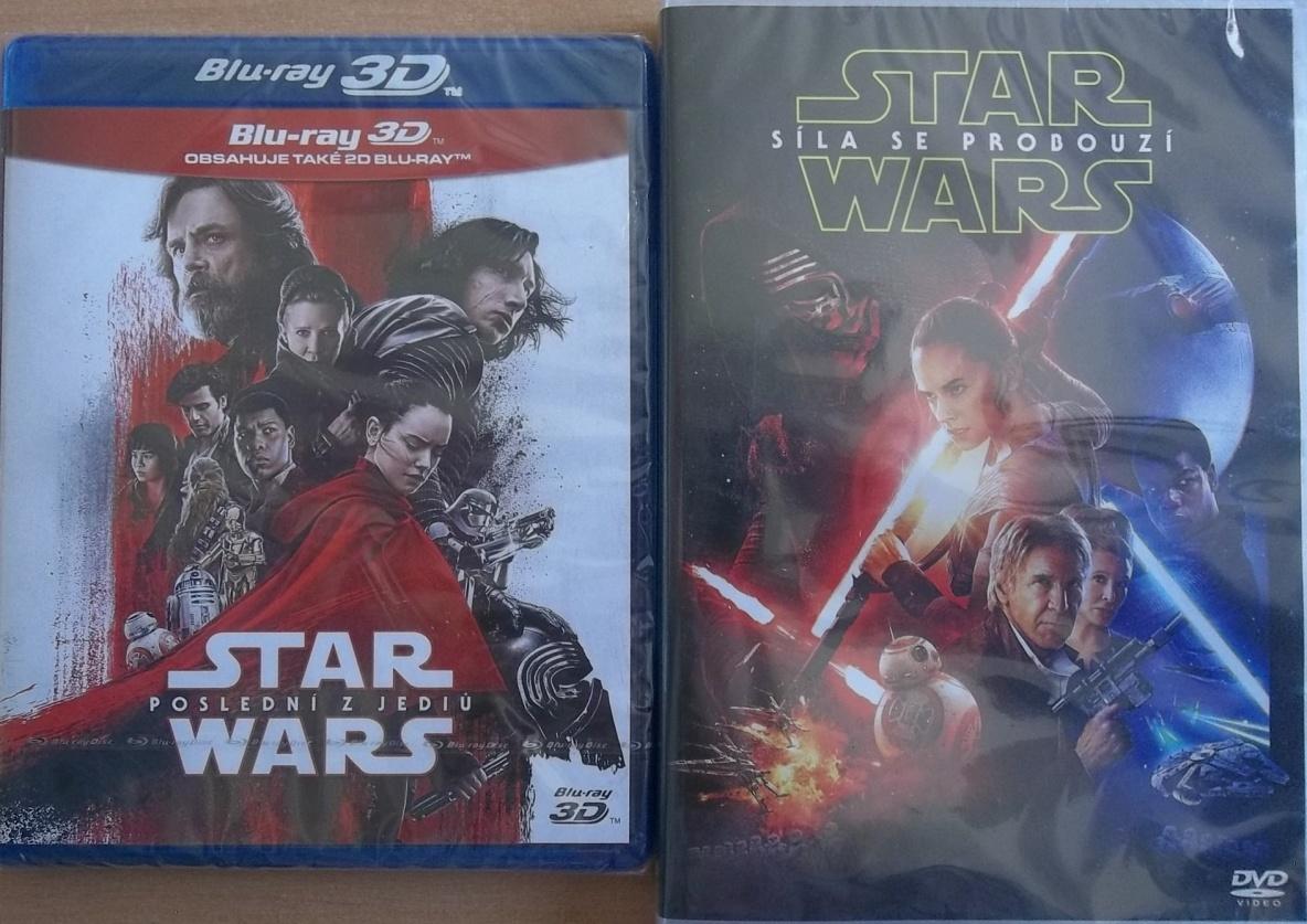 Star Wars: Poslední z Jediů 3BD (3D+2D+bonusový disk) + DVD  zdarma