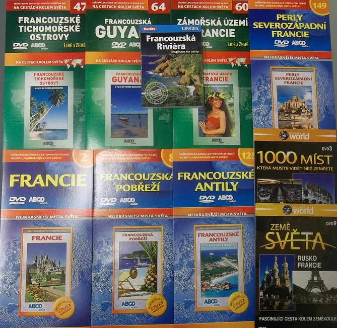 kolekce Francie ( 1x Kniha + 9x cetopisné DVD )