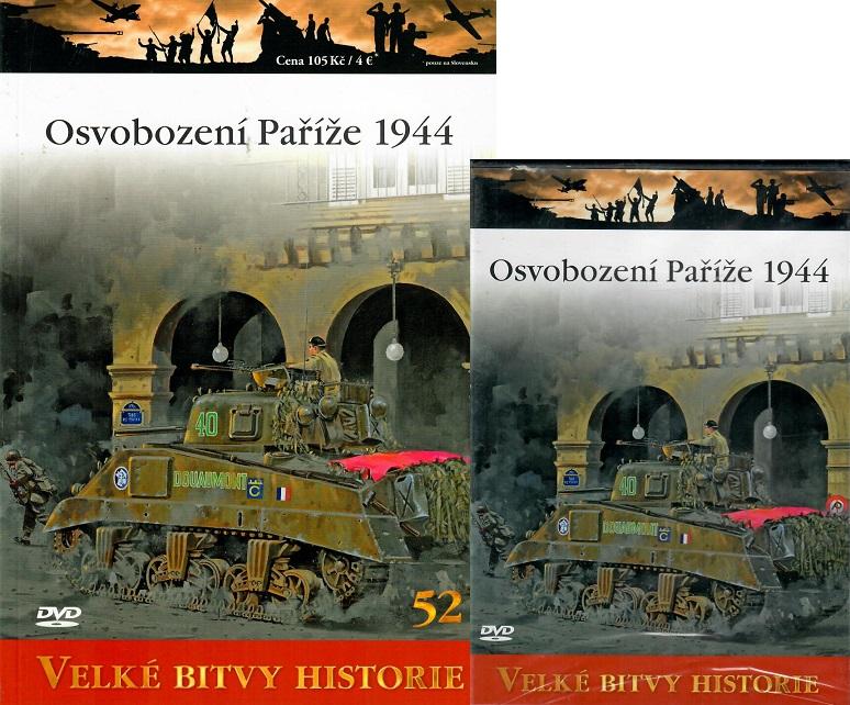 Velké bitvy historie 52 - Osvobození Paříže 1944 ( Časopis + DVD )