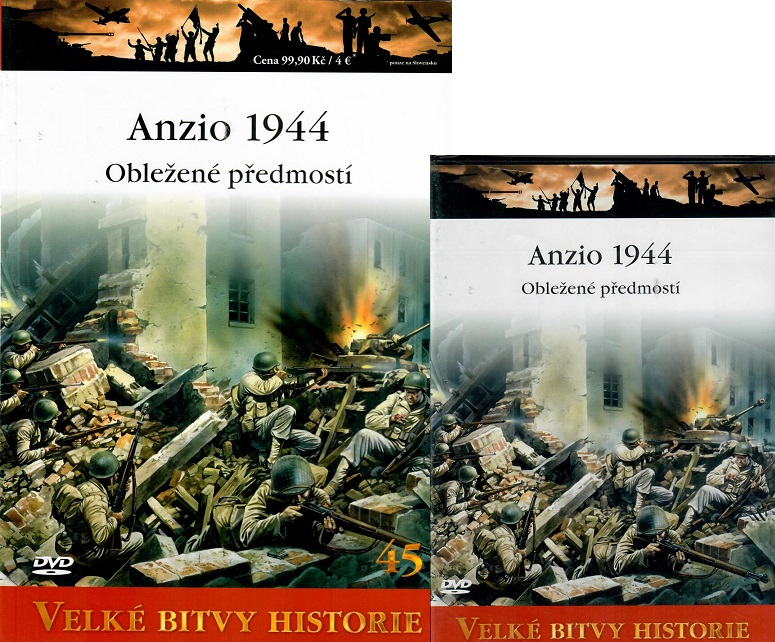 Velké bitvy historie 45 - Anzio 1944 ( Časopis + DVD )