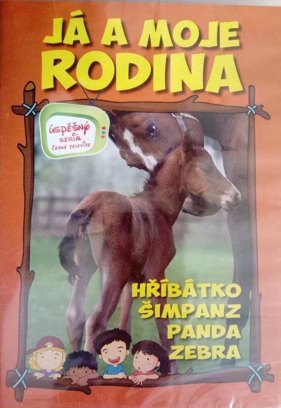 Já a moje rodina: Hříbátko, šimpanz, panda, zebra DVD plast