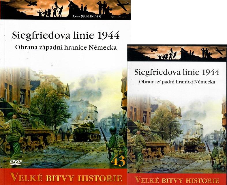 Velké bitvy historie 43 - Siefriedova linie 1944 ( Časopis + DVD )