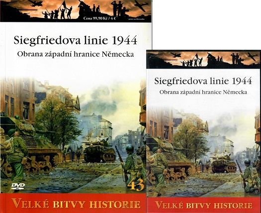 Velké bitvy historie 43 - Siegfriedova linie 1944 ( časopis + DVD )