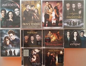 Kolekce Twilight sága 5 DVD+5 CD