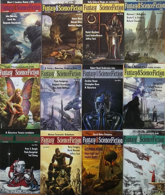 Knižní kolekce Fantasy&Science Fiction - 12x kniha