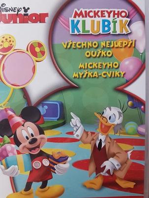 Mickeyho klubík Všechno njelepší Ouško,Mickeyho Myška-cviky- DVD plast