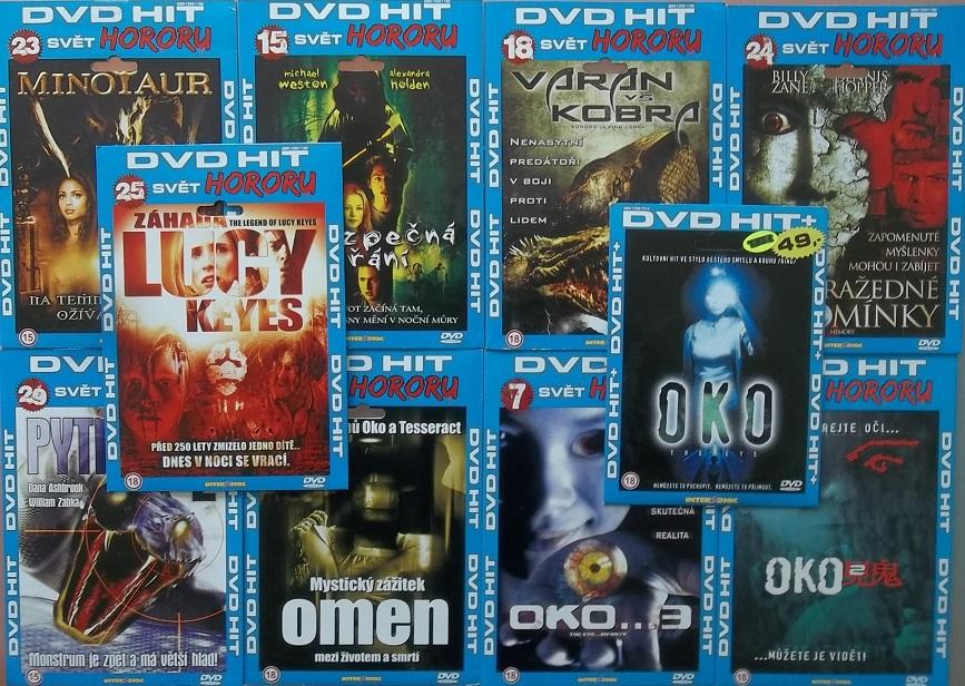 Kolekce DVD HIT - svět hororu - 10x DVD