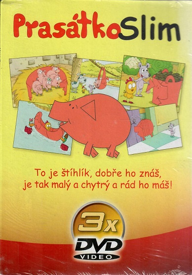 Kolekce Prasátko Slim 3x DVD ( papírové pošetky)