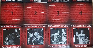 Kolekce divadelních her - 4xDVD /Šašek a královna,Revizor,Cyrano z Bergeracu,Gazdina Roba/