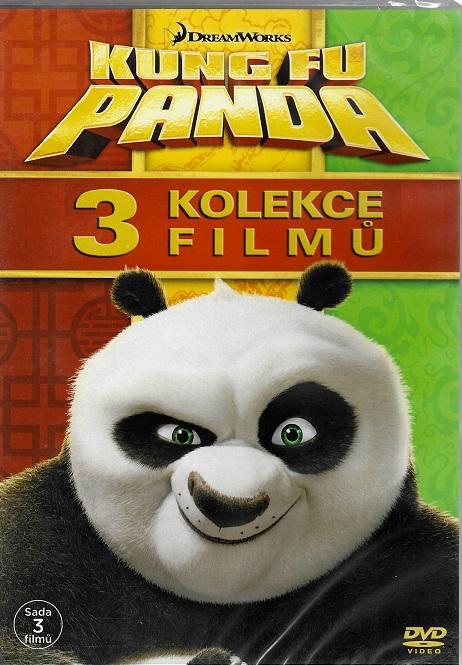 Kung Fu Panda 1-3 ( plast ) DVD kolekce 3 filmů